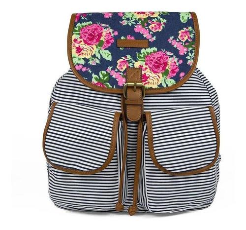 Imagen 1 de 4 de Backpack De Dama Gorétt Azul Edme