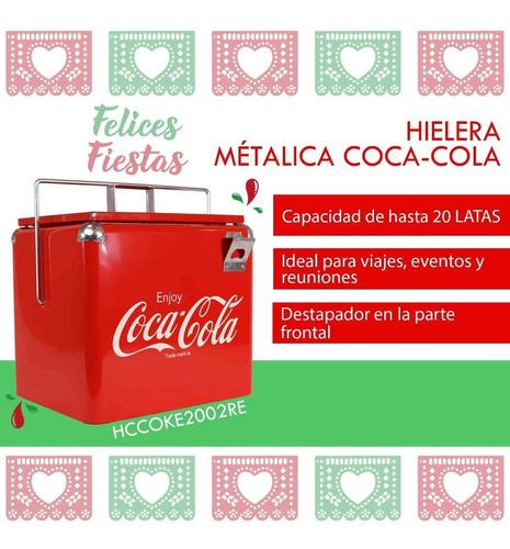 Imagen 1 de 6 de Hielera Metálica Coca-cola Dace Hccoke2002re