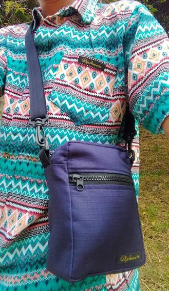 Shoulder Bag Diplomata Original Camuflado E Azul Marinho
