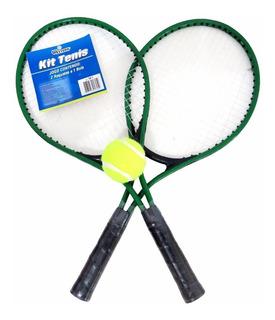Kit Com 02 Raquete De Tenis +1 Bola +1 Bolsa (importado )
