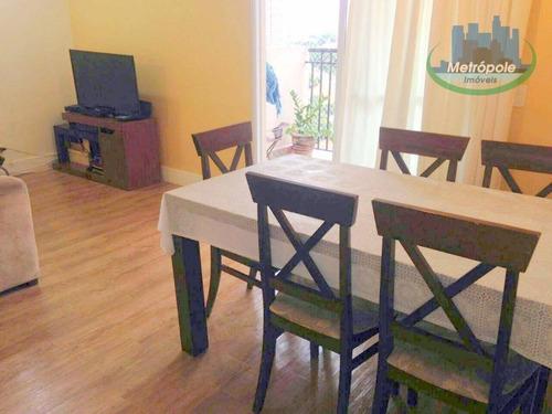 Apartamento À Venda, 82 M² Por R$ 460.000,00 - Vila Augusta - Guarulhos/sp - Ap0945