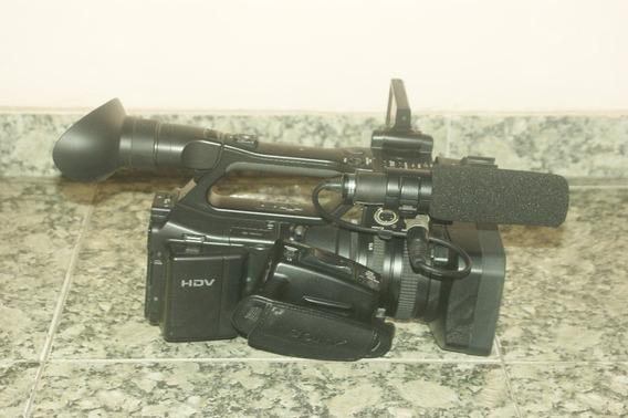 Filmadora Sony Z7 C/ Tripé Benro Duas Baterias E Carregador