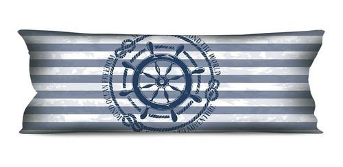 Imagem 1 de 3 de Almofada Grande Náutica Marinheiro 35x95 Para Sofá Ou Cama