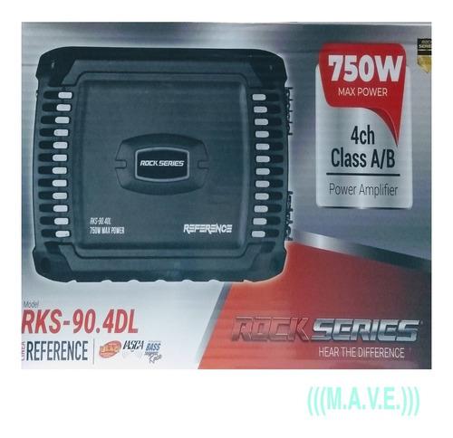 Imagen 1 de 11 de Amplificadores Rks-90.4dl.4 Canales .750w.