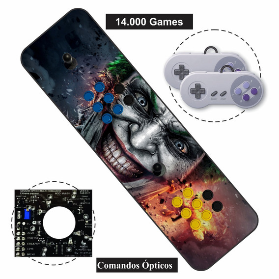 Fliperama Portátil Controle Arcade Duplo Optico - 64gb !