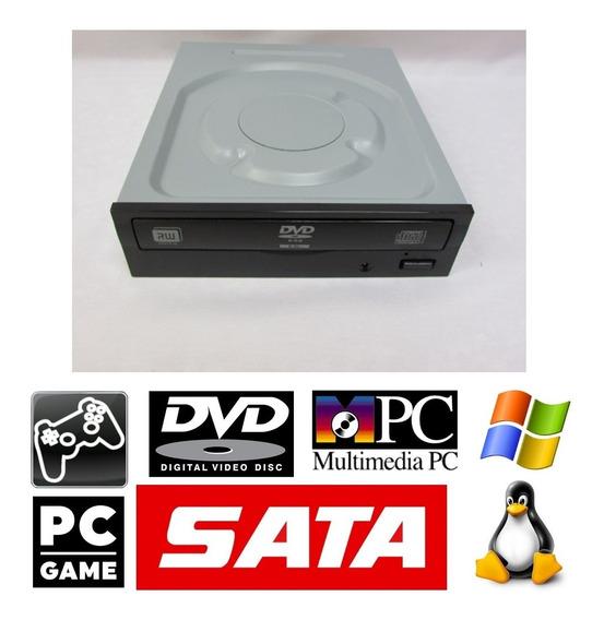 Drive Dvd Rw Sata Grava Reproduz Dvd Cd Pc Gamer + Brinde