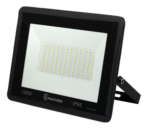 Imagen 1 de 10 de Reflector Led 100w Exterior 7500 Lumens Premium Con Soporte