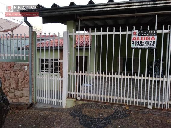 Casa Com 3 Dormitórios Para Alugar Por R$ 1.800/mês - Vila Ramaciotti - Valinhos/sp - Ca0560