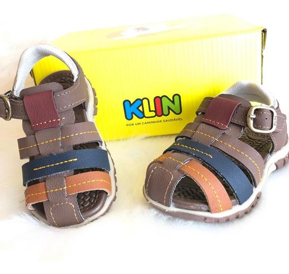Sandalia Line Play Menino Infantil Klin - 16540