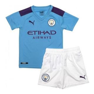 Kit Infantil Manchester City 2019/20 - Envio Imediato