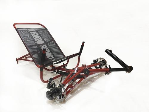 Imagem 1 de 10 de Kit Quadro Triciclo Reclinado Full Suspension Art Trike