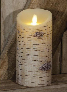 Birch Luminara Candle, 7 , Velas Decorativas Con Pilas