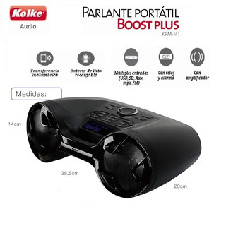 Parlante Kolke Bluetooth Boost Plus Kpm-141 Usb Sd