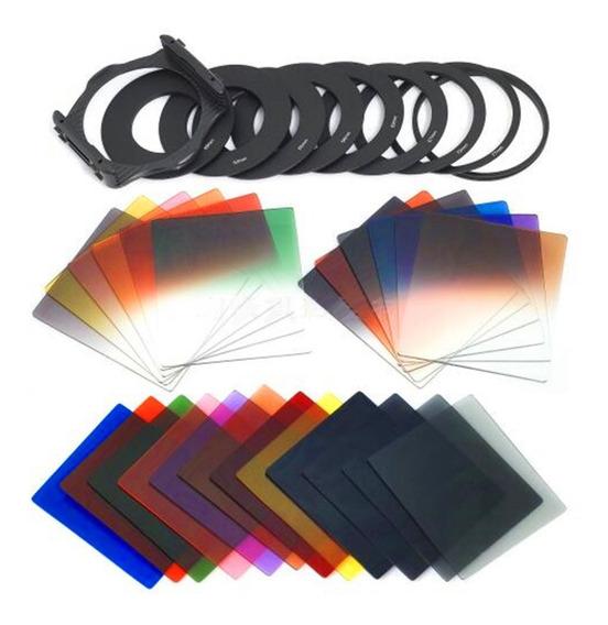 P Série 24 Cor Gradiente Quadrado Panchromatic Filtros Defi
