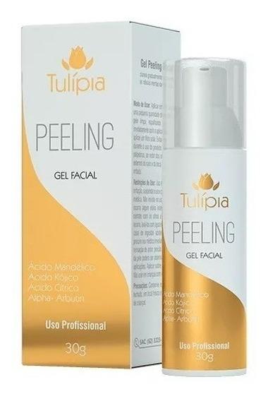 Gel Peeling Facial Ação Anti Rugas Clareador Pele - Tulípia