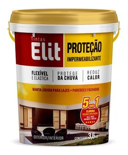Tinta Emborrachada Impermeabilizante 5x1 - 3.6l Elit