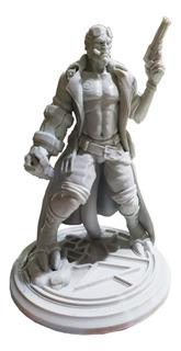 Figura Hellboy Para Pintar Alto 20cm Impresion 3d Pla
