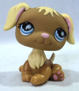Littlest Pet Shop Original Perrito Ojos Celestes Hocico Rosa