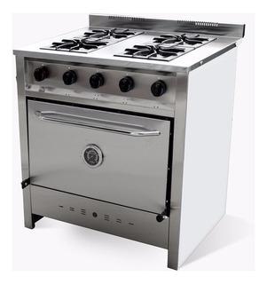 Cocina Industrial Gastroequip 80cm 4 Hornallas Selectogar