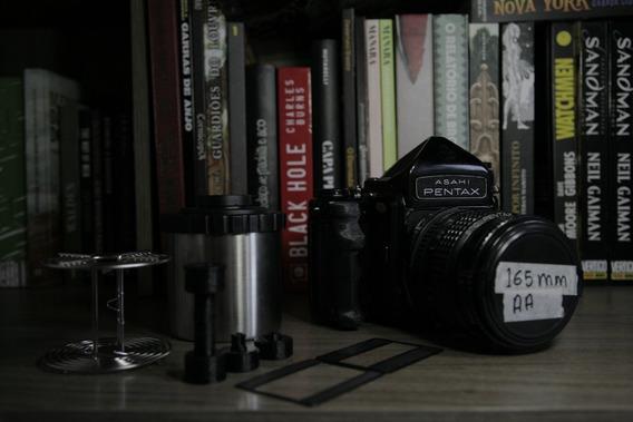 Câmera Pentax 6x7 Analógica Médio Formato Com Acessórios