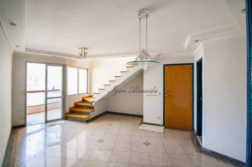 Imagem 1 de 27 de Cobertura Com 3 Dormitórios À Venda, 192 M² Por R$ 1.790.000,00 - Pinheiros - São Paulo/sp - Co1308