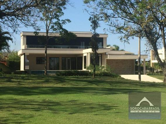 Maravilhoso Sobrado Com 4 Dormitórios À Venda, 600 M² Por R$ 3.600.000 - Lago Azul Condomínio E Golfe Clube - Araçoiaba Da Serra/sp - So0132