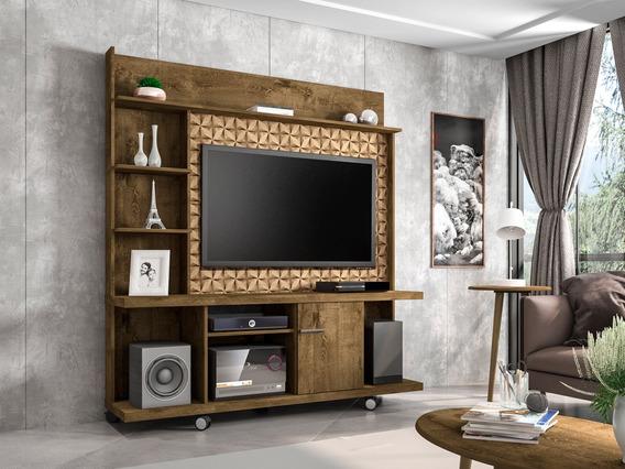Painel Tv Taurus Com Rack Bancada Cor Madeira/madeira 3d