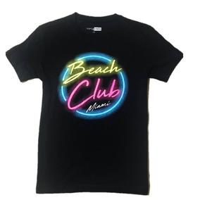 Playera Hombre Manga Beach Club