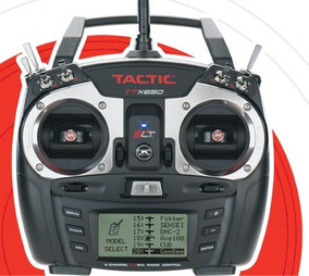 Radio Tactic 6 Canais Ttx650 2.4ghz W/ Rx-tr625