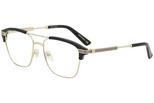 Gucci Gg 0241o 002oro Negro Plástico Rectangular Anteojos