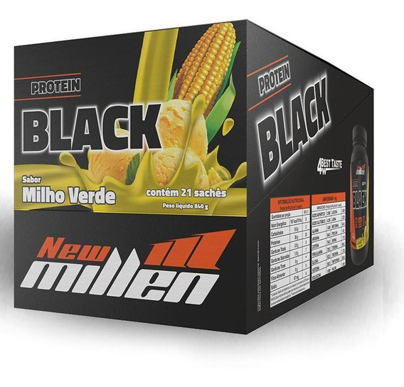 Protein Black 4w (21 Sachês De 40g) New Millen