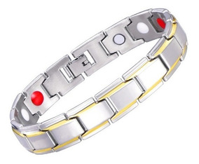 Pulseira Magnética Fir Aço Cirúrgico Bracelete Energético