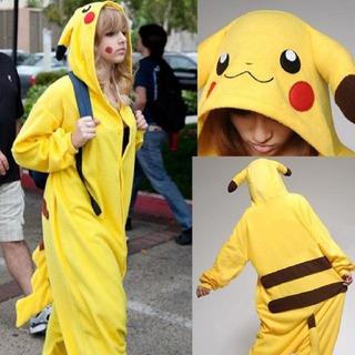 Fantasia Pijama Pokemon Pikachu Infantil Cosplay Unisex