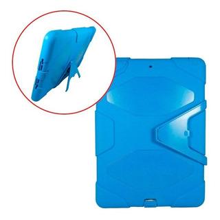 Funda Estilo Survivor iPad Air 1 Uso Rudo Base Azul Claro