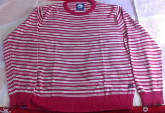 Pullover Mistral Rojo Rayado