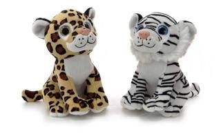 Tigre De Peluche Leopardo De Peluche Ojos Tipo Ty Muy Tierno