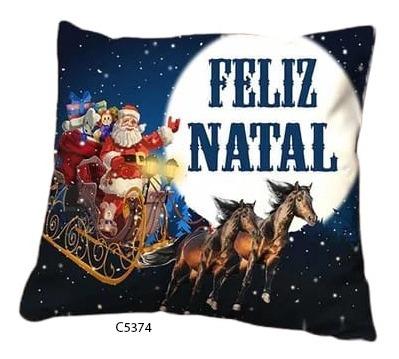 Capa De Almofada Papai Noel Desenho Feliz Natal C5374
