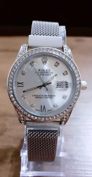 Relógio Feminino Rolex Em Aço