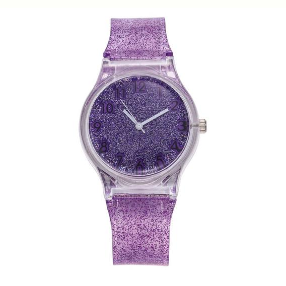 Relógios Feminino Silicone Cinta Redondo Discar Quartz