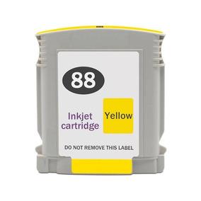 2 Unidades Compativel Cartuchos Hp 88 Yellow C9393a