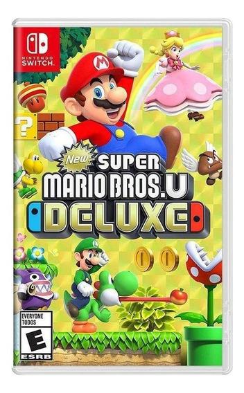 New Super Mario Bros. U Deluxe Switch Mídia Física Lacrado