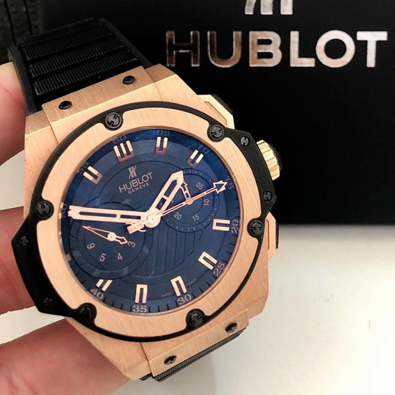 Hublot King Power Foudroyante Split Seconds Ouro Rosé 48mm
