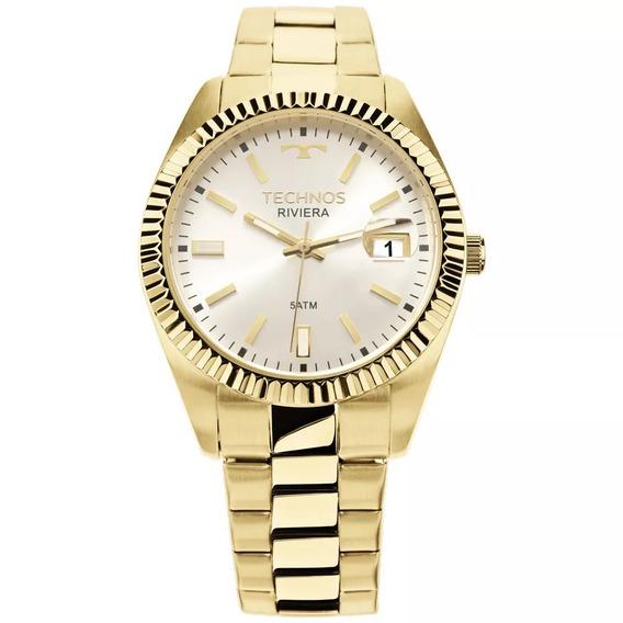 Relógio Technos Feminino Dourado Social Barato 2115ktr/4k