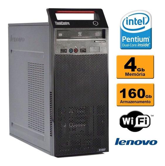 Cpu Lenovo Torre A70 Dual Core 2.93 4gb Ddr3 Hd160gb Rw Wif