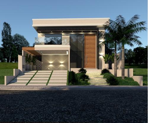 Projeto Arquitetônico De  Sobrado  333,71m²