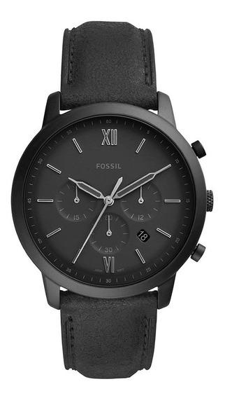 Relógio Fossil Masculino Grant Crono Fs5503/0pn Preto Couro