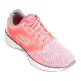 Tênis Skechers Go Walk Sport Feminino 14138 - Hpv - Salmão