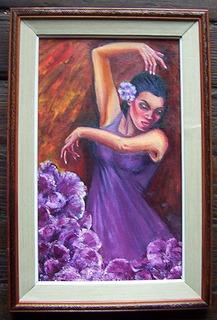 Clara Luz Castillo Parodi Rumba Flamenca Óleo Tela Con Marco