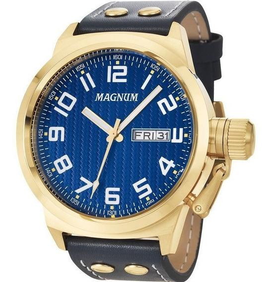 Relogio Masculino Pulseira Couro Magnum Ma32765a