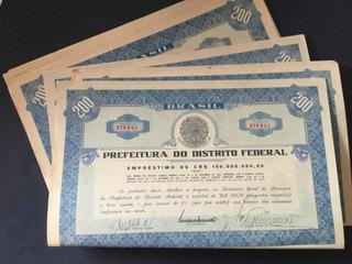 10 Apólices 1944 Prefeitura Distrito Federal 200 Cruzeiros